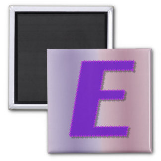 E purple monogram magnet