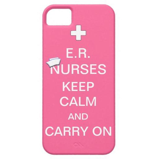 E.R. Nurses Keep Calm+Nurses Cap/Soft Pink iPhone 5 Cover