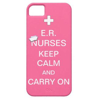 E.R. Nurses Keep Calm+Nurses Cap/Soft Pink iPhone 5 Case
