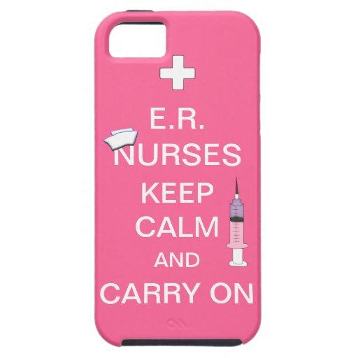 E.R. Nurses Keep Calm+Syringe and Cap/Soft Pink iPhone 5 Case