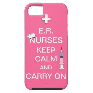 E.R. Nurses Keep Calm+Syringe and Cap/Soft Pink iPhone 5 Cover