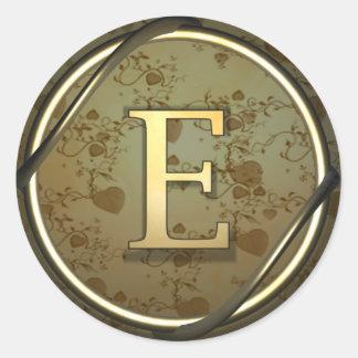 e round sticker
