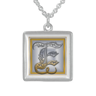 E Royal Initial Monogram Necklace Custom Necklace