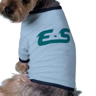 E S Atlantis Teal Logo Product Doggie Shirt