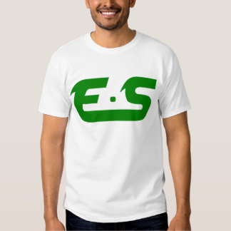 E.S Forest Green Logo Tee Shirts