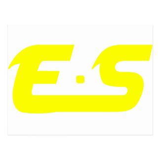 E.S Sunshine Yellow Logo Product Postcard