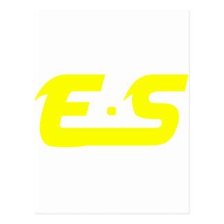 E S Sunshine Yellow Logo Product Postcard