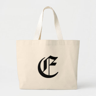 E-text Old English Large Tote Bag