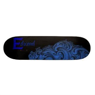 E - The Falck Alphabet (Blue) Skate Deck