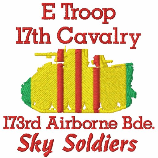 E Troop 17th Cav. 173rd Abne M113 Track Polo Shirt