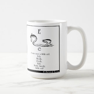 E was once a little eel coffee mug