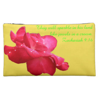 E&Y K-O Rose A~Heart Cosmetic Bag