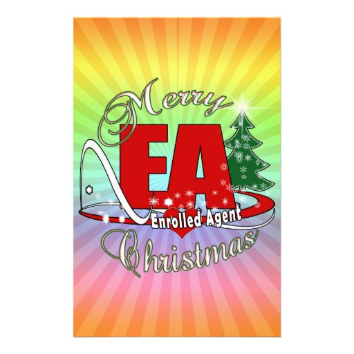EA CHRISTMAS  Enrolled Agent Stationery Paper