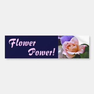 EA- Flower Power Rose Bumper Sticker