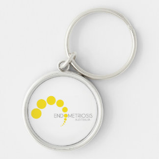 EA - Logo Silver-Colored Round Key Ring