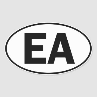 EA Oval Identity Sign Oval Sticker