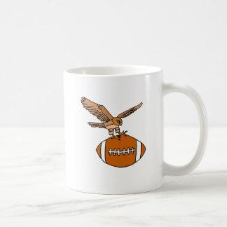 EA- Soaring Falcons Carrying Football Design Basic White Mug