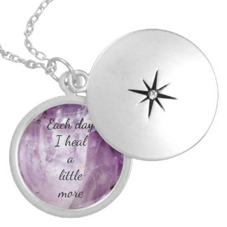 'Each day I heal' Silver Plated Necklace