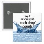 Each drop counts boton