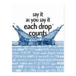 Each drop counts postal