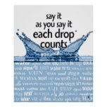 Each drop counts poster