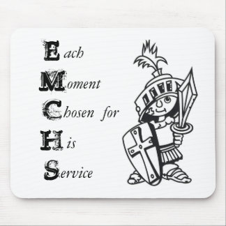 Each moment chosen for His service Mousepad