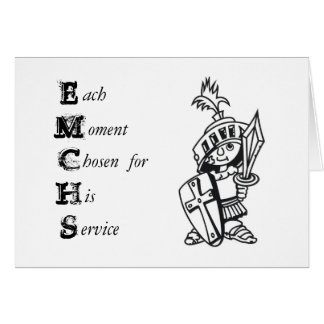 each moment chosen for his service note card