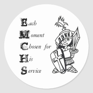 each moment classic round sticker