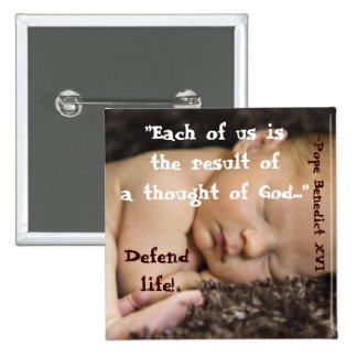 Each of Us Is the Result of A Thought Of God... B1 15 Cm Square Badge