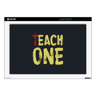 "Each one teach one 17"" laptop skins"