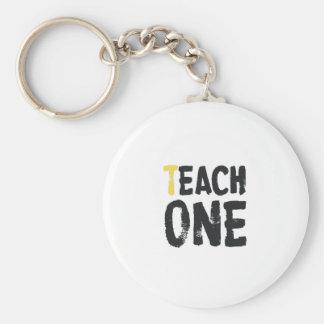 Each one Teach one Basic Round Button Key Ring