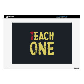 "Each one teach one decals for 15"" laptops"