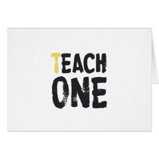 Each one Teach one Greeting Card