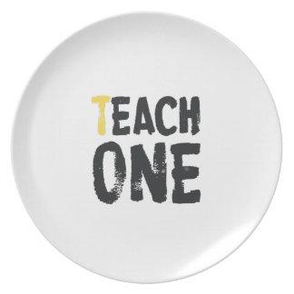 Each one Teach one Party Plates