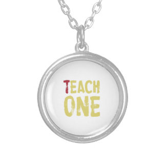 Each one teach one round pendant necklace