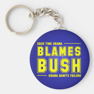 Each Time You Blame Bush Basic Round Button Key Ring