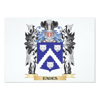 Eades Coat of Arms - Family Crest 13 Cm X 18 Cm Invitation Card