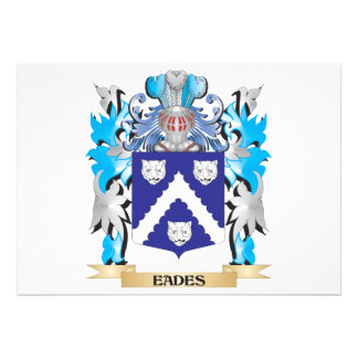 Eades Coat of Arms - Family Crest Personalized Invitation