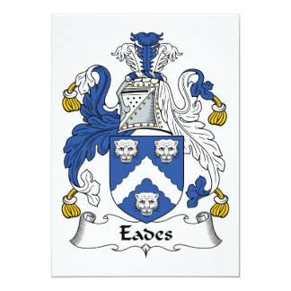 Eades Family Crest 13 Cm X 18 Cm Invitation Card