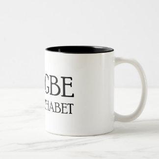 EADGBE IS MY ALPHABET Two-Tone MUG