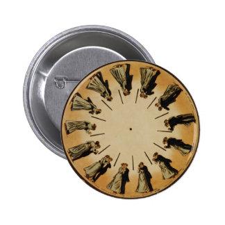 Eadweard Muybridge Couple Waltzing Phenakistoscope Pins