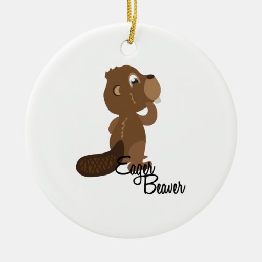 Eager Beaver Christmas Tree Ornaments