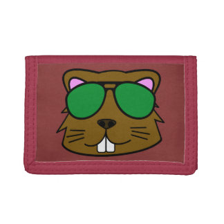Eager Beaver Red Trifold Wallet