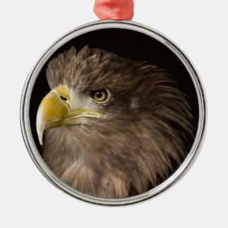 Eagl Silver-Colored Round Decoration