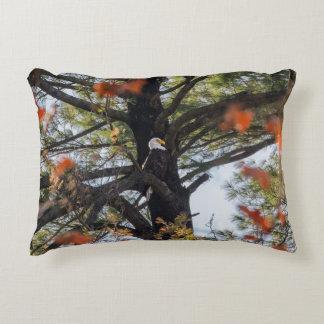 Eagle and Falling Leaves Decorative Cushion