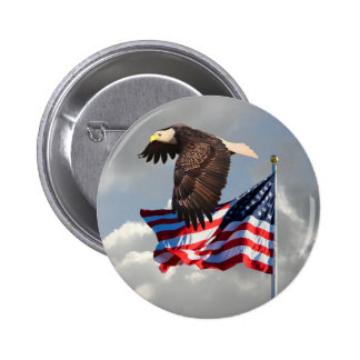 EAGLE AND FLAG BUTTON