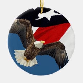 Eagle and Flag Christmas Ornament