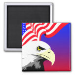 Eagle and Flag Fridge Magnet