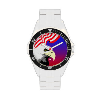 Eagle and Flag Wristwatch