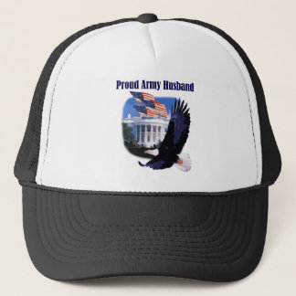 Eagle and Flags Proud Army Husband Trucker Hat